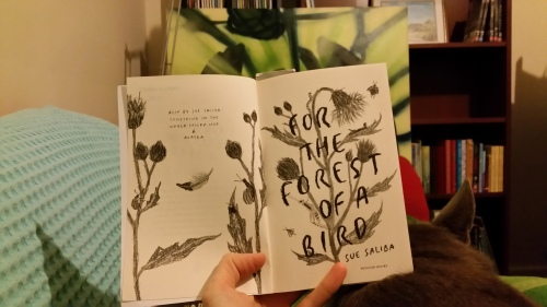the delicate title page of For the Forest of a Bird